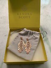 Earrings In Rose Gold New $75 Kendra Scott Luca Statement