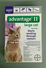 GENUINE BAYER ADVANTAGE II FLEA CONTROL FOR CATS OVER 9 LBS - NEW 6 PACK