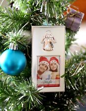 Christmas Silver Snowman Hanging Photo Frame Secret Santa Stocking Gift Present