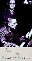 JEWISH Composer PAUL DESSAU Hand SIGNED AUTOGRAPH + PHOTO +DECORATIVE MAT Brecht