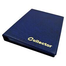 Collector Münz - Sammelalbum für 126 Verschiedene Münzen - Größen Album Blau
