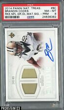 2014 National Treasures Brandin Cooks RC Jersey Patch AUTO 14/49 PSA 8 POP 3