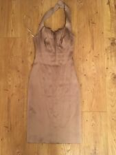 Karen Millen Dusky Pink/Mauve Satin Dress UK 6