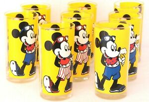 The Walt Disney Co. Stotter Acrylic Mickey Mouse Drinking Beverage Cups Set of 8