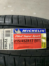 1 New 215 45 17 Michelin Pilot Super Sport Tire
