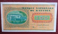 Katanga - Congo Belge - Belgique - Près de Superbe  100 Francs du  31-10- 1960