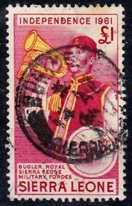 Sierra Leone 1961 £1 Independence SG 235 GU