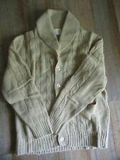 VINTAGE Retro Men's THANE 100% Wool button down LS sweater Hong Kong size M