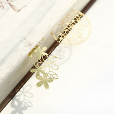 Chinese Japanese Style Sakura Exquisite Vintage Skeleton Metal Bookmark