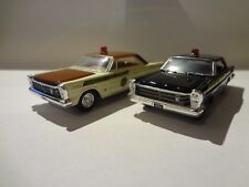 Racing Champions 1965 Ford Galaxie Tennessee Set of 2 cars Loose New Mint 1:64