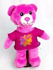 Mint Build A Bear SPIN MASTER Hot PINK Stuffed Plush BABW w STAR T-Shirt & Heart
