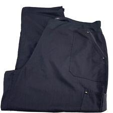 Purple Label Yoga Healing Hands Women's Scrub Pants Plus Sz Gray 3Xl Exc