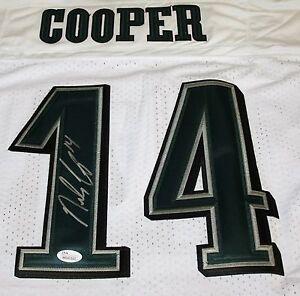 RILEY COOPER Signed Philadelphia Eagles White Jersey Autograph JSA Size 44