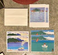 Vintage Rosalie Prussing Aloha Airlines Hawaiian Art Greeting Cards & Envelopes