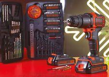 Black & Decker Cordless Combi Drill 18V 2 x 1.5Ah Li-ion BCD700S1KTB-GB