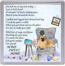 "Tibetan Spaniel Dog Coaster ""HOME SWEET HOME Poem ...."" by Starprint"