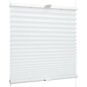 Plissee für Fenster & Tür mit Klemmhaltern Klemmfix ohne Bohren | Weiß