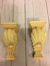 Vintage set Of Curtain Rod Wall Scone With Classical Leaf Design
