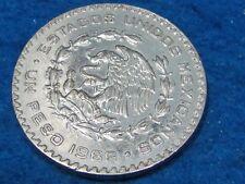 LARGE MEXICAN SILVER COIN 1966 MORELOS SILVER PESO  Ship 1 to 10 coins for $2.60