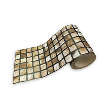 Pearlescent mosaic tile effect, wallpaper border 8264-42
