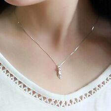 """925 Sterling Silver Plated Cute Small Cat Kitty Pendant Necklace 18"""""""