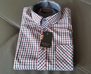 Ben Sherman Herren Button-Down-Kragen Hemd  Langarm Mod Fit 100% Baumwolle Gr. L