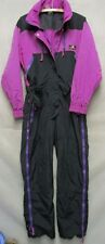 V6807 Sierra Designs Purple/Black Nylon Vintage Zip Up Snowsuit Women's