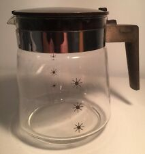 Coffee Carafe Pot Tea Atomic Starburst Vintage Glass Pyrex Corning Lid Handle