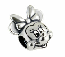 A European Mouse S925 silver charm bead For DIY bracelet chain necklace bangle