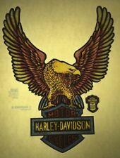 Harley Davidson Licensed glitter retro tshirt transfer print new NOS