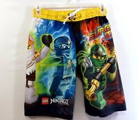 Lego Boys Ninjago Masters of Spinjitsu Large 14 - 16 Board Shorts Swim Trunks