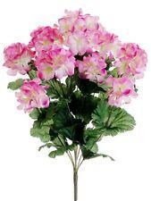 "17"" Artificial Geranium Bush Pink (Pack of 12)  Silk Flower Plants Decor"