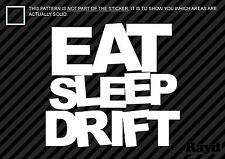 (2x) Eat Sleep Drift Sticker Decal Die Cut #2 jdm drift