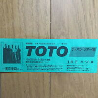 TOTO Japan tour ticket stub in 1988 Tokyo David Paich Steve Lukather Africa""