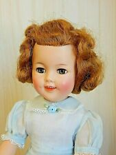 """Vintage Ideal SHIRLEY TEMPLE 17"""" Vinyl Doll, Excellent Condition, Nice Color"""