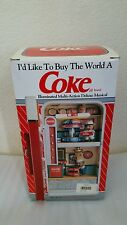RARE Coca-Cola Music Box Factory Multi-Action/Lights Vending Machine Enesco
