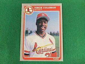 1985 Fleer Update #28 Vince Coleman XRC St. Louis Cardinals