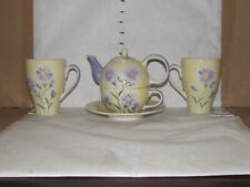 Vintage Herman Dodge And Son Floral Teapot Hand Painted 1 1/ 2 cups