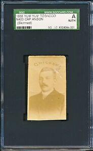 "1888 N403 Yum Yum Tobacco: CAP ANSON ""Chicago Cubs HOF""    SGC Authentic"