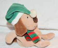 Ty Beanie Baby Jingle Beanies Brown Dog Puppy Slushes Christmas Ornament