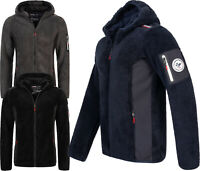 Geographical Norway Herren Teddyfleece Jacke FVSA Outdoor Übergangs Softshell