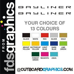 Pair of 1220mm (48 inch) Bayliner sticker/decals
