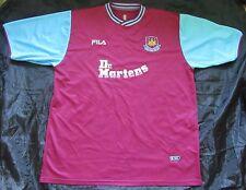 West Ham United MARTELLI HOME SHIRT JERSEY FILA 2001/2003 Dr Martens WHU Taglia XXL