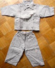 Ensemble en toile légère garçon 3 pommes - 12 mois chemise et pantalon