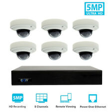 8 Channel 8MP 4K NVR 6 X 5MP 1920P PoE IP Home Dome Security Camera System 1T HD