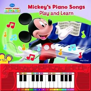 2012 Mickey's Play and Learn Piano Songs | Hardcover w/ New Batteries