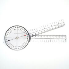 "Goniometer Angle Ruler Joint Bend Measure Plastic PVC - 8""  200mm UK Seller"