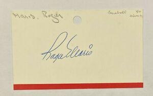 Roger Maris Signed 3x5 Index Card Autograph JSA LOA New York Yankees