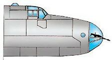 HP Halifax III Vacuform Canopy, Glazing for Airfix (1/72 Squadron 9190)