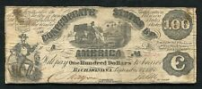 T-13 1861 $100 One Hundred Dollars Csa Confederate States Of America Note